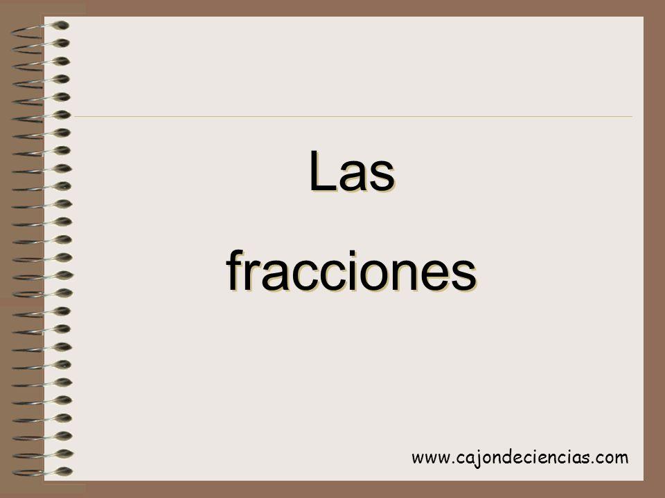 Las fracciones www.cajondeciencias.com