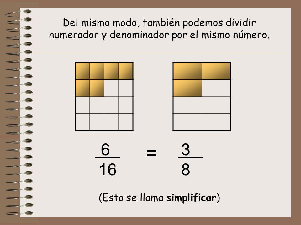 (Esto se llama simplificar)