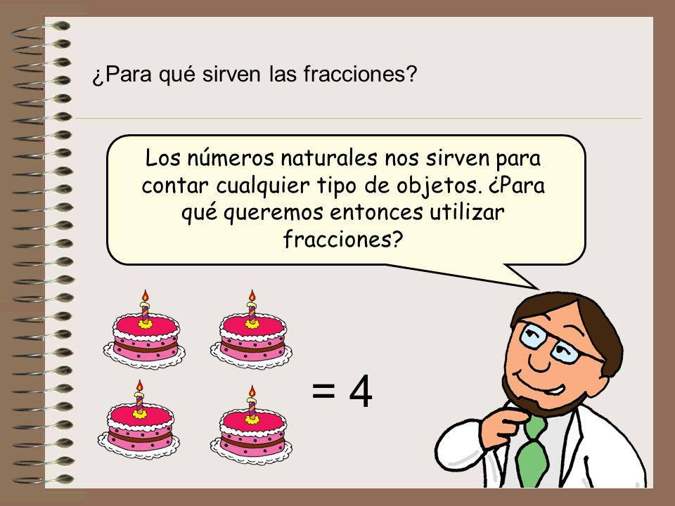 = 4 ¿Para qué sirven las fracciones