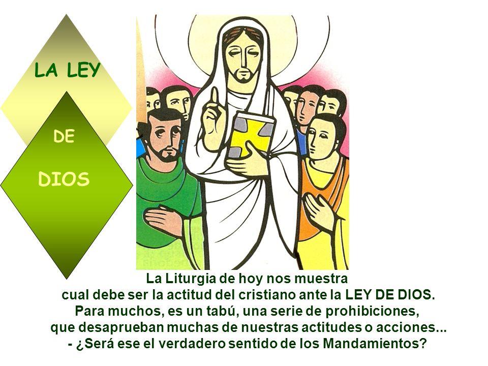 LA LEY DIOS DE La Liturgia de hoy nos muestra