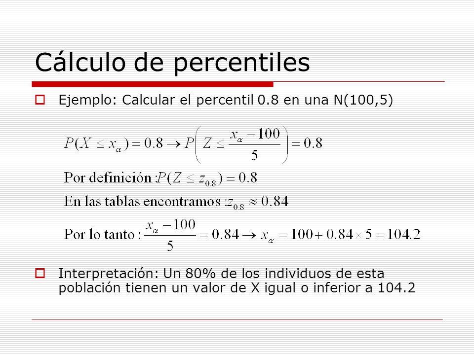 Cálculo de percentiles