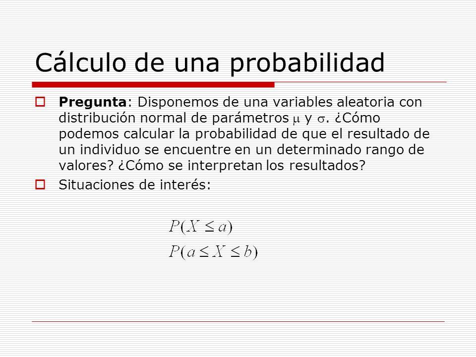 Cálculo de una probabilidad