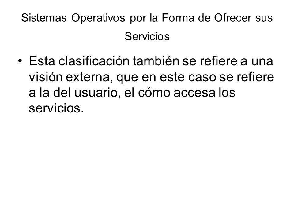 Sistemas Operativos por la Forma de Ofrecer sus Servicios