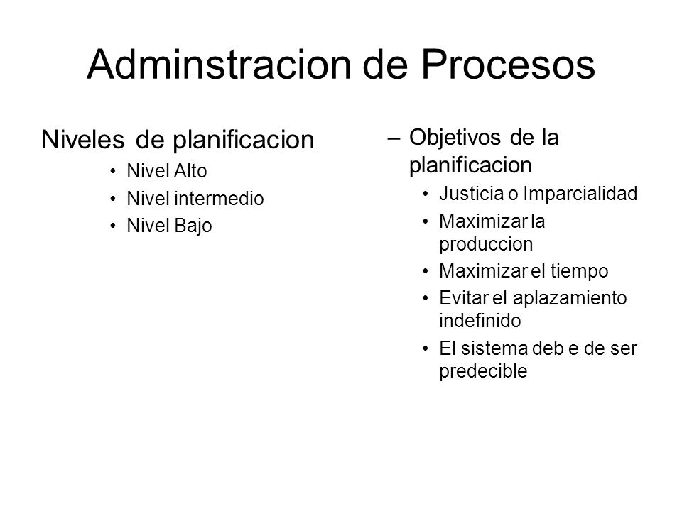 Adminstracion de Procesos