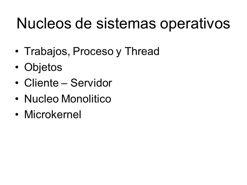 Nucleos de sistemas operativos