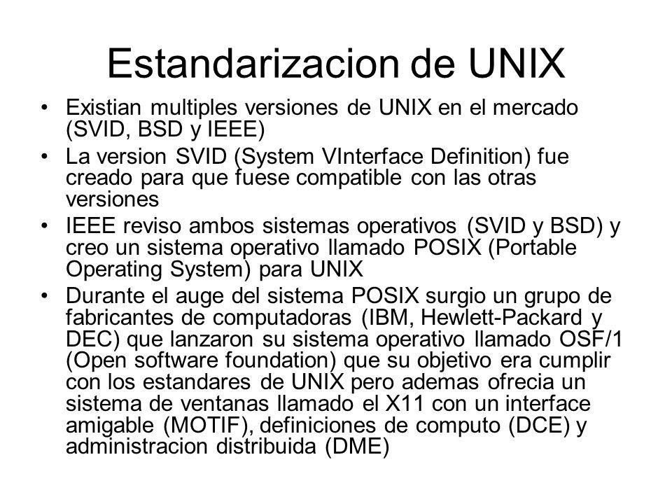 Estandarizacion de UNIX