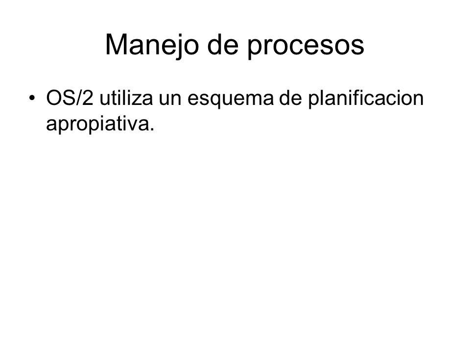 Manejo de procesos OS/2 utiliza un esquema de planificacion apropiativa.
