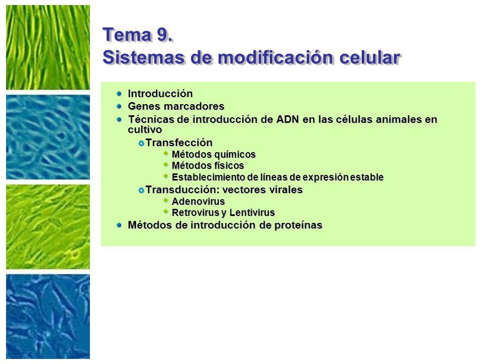 Tema 9. Sistemas de modificación celular