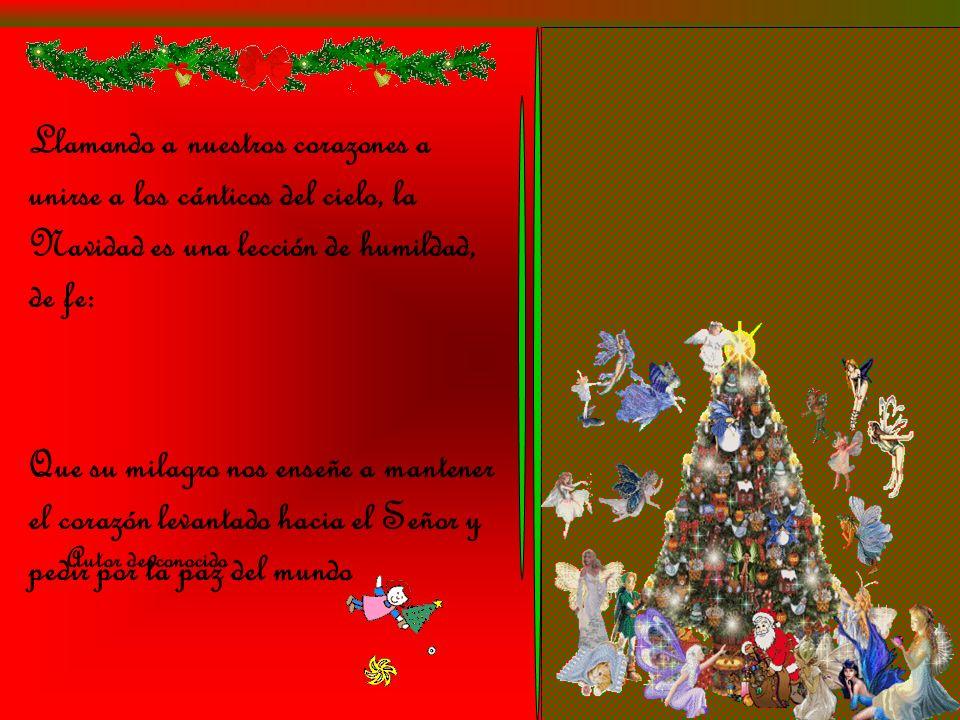 Llamando a nuestros corazones a unirse a los cánticos del cielo, la Navidad es una lección de humildad, de fe: