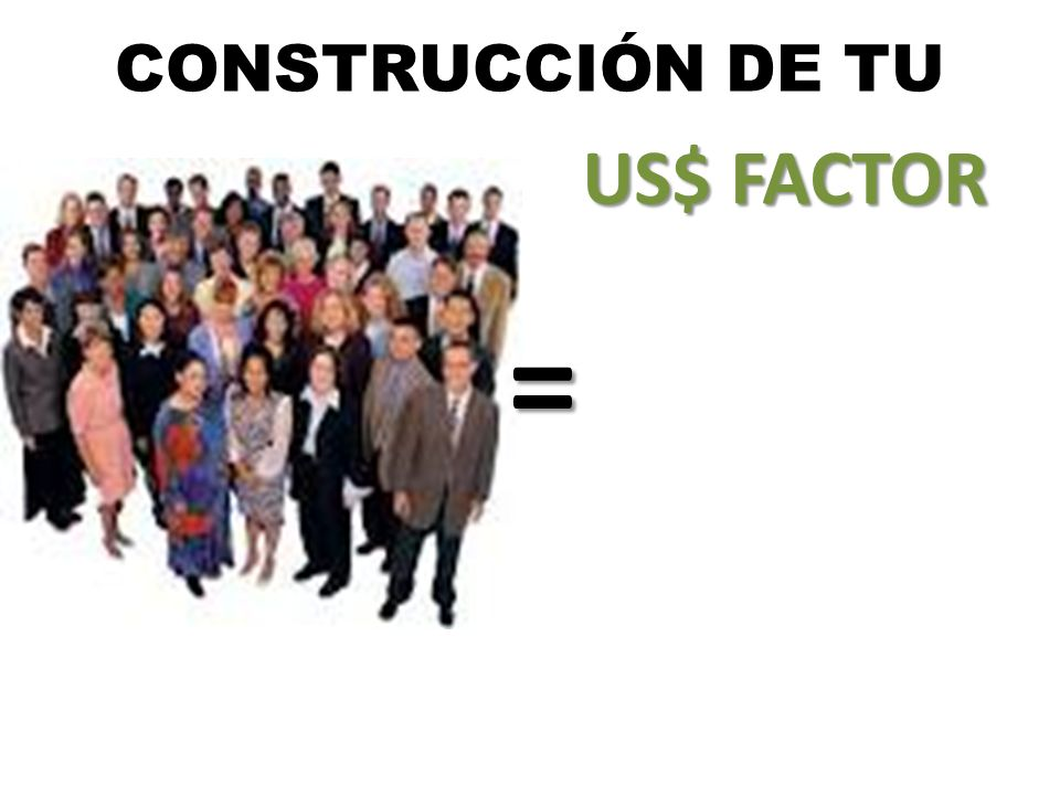 CONSTRUCCIÓN DE TU US$ FACTOR =