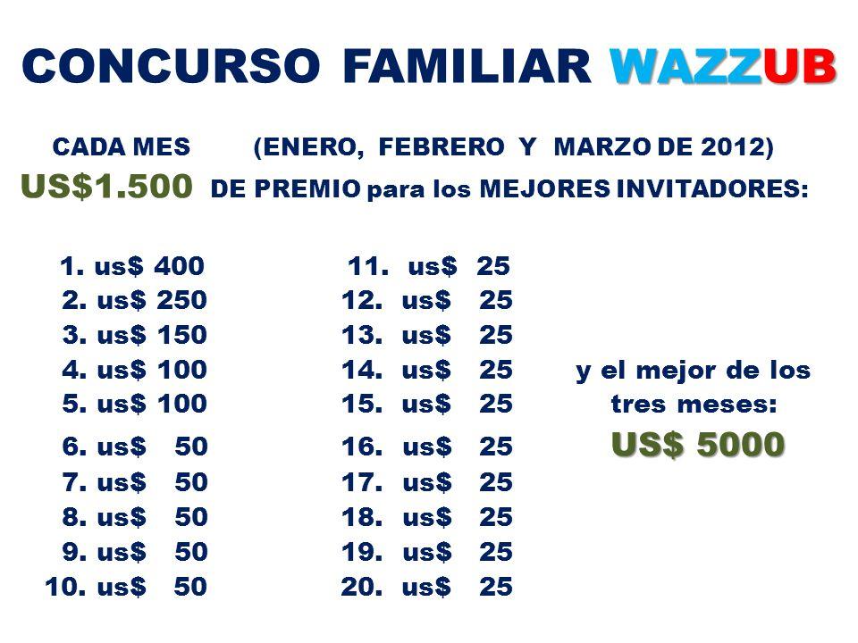 CONCURSO FAMILIAR WAZZUB