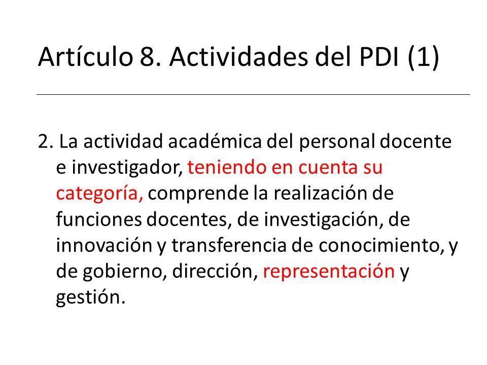 Artículo 8. Actividades del PDI (1)