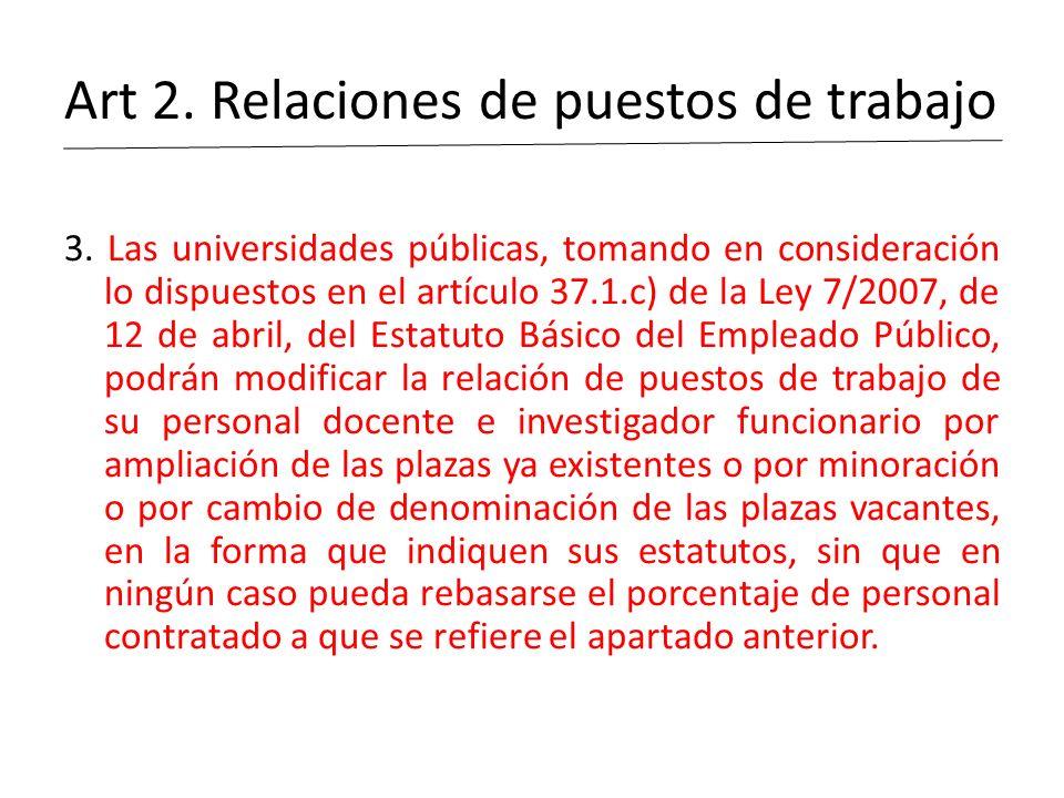 Art 2. Relaciones de puestos de trabajo