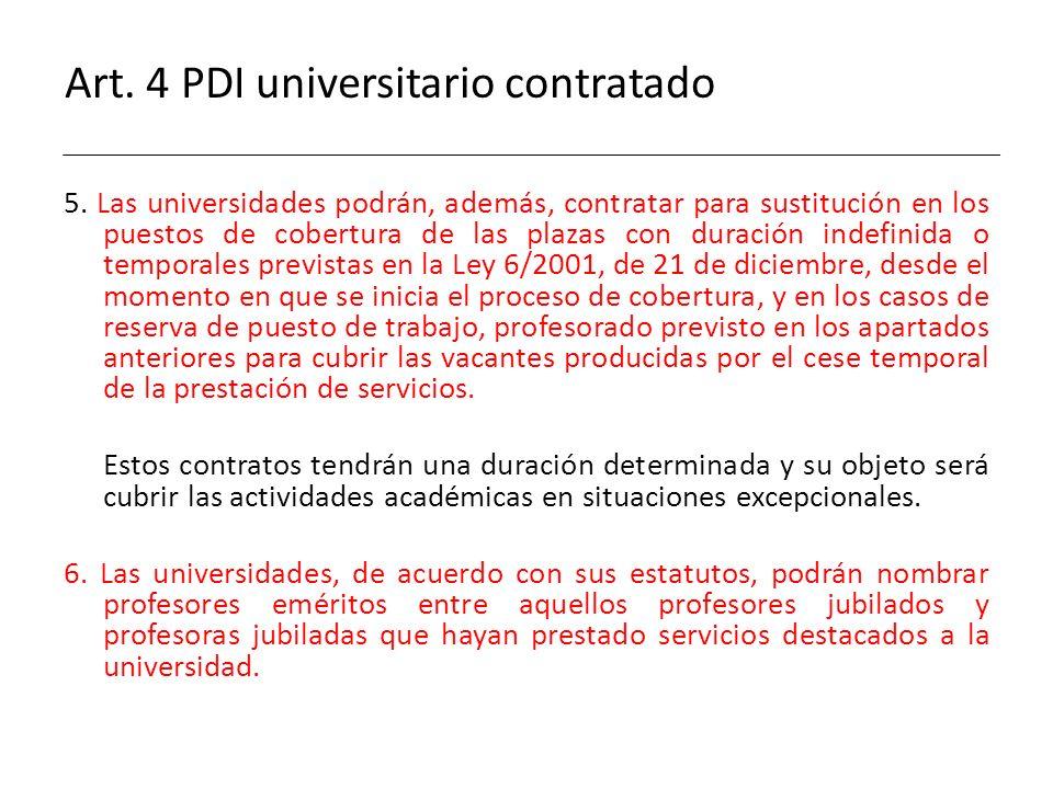 Art. 4 PDI universitario contratado