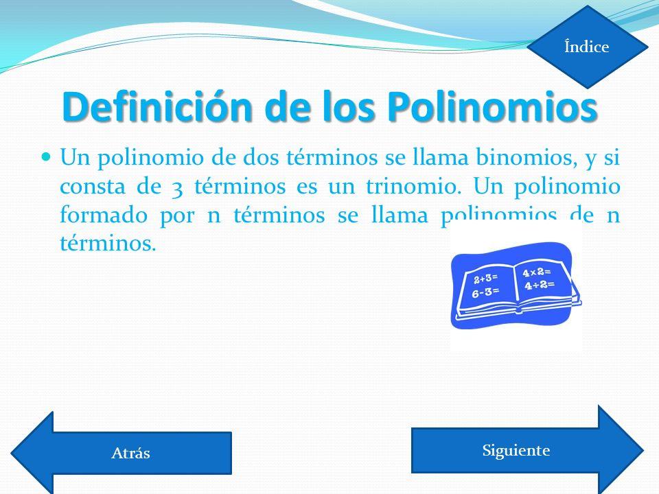 Definición de los Polinomios