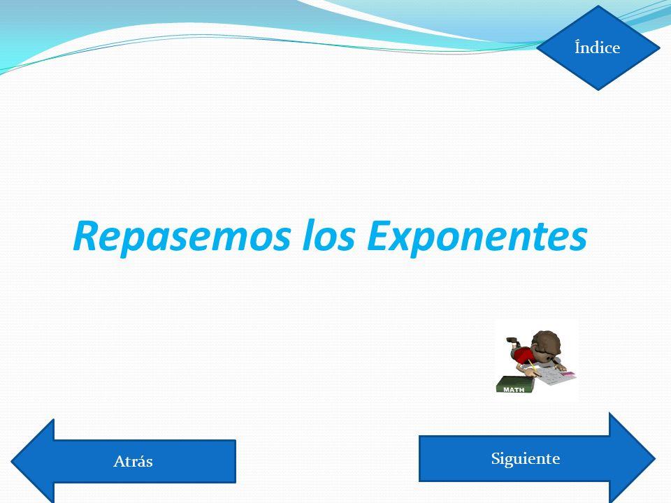Repasemos los Exponentes