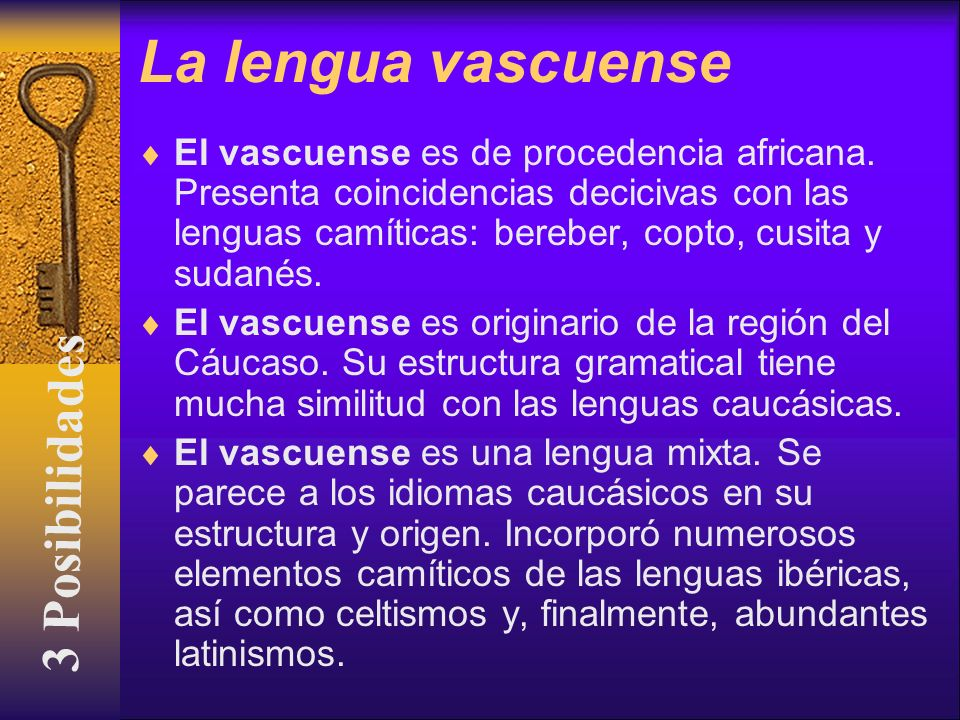 La lengua vascuense 3 Posibilidades