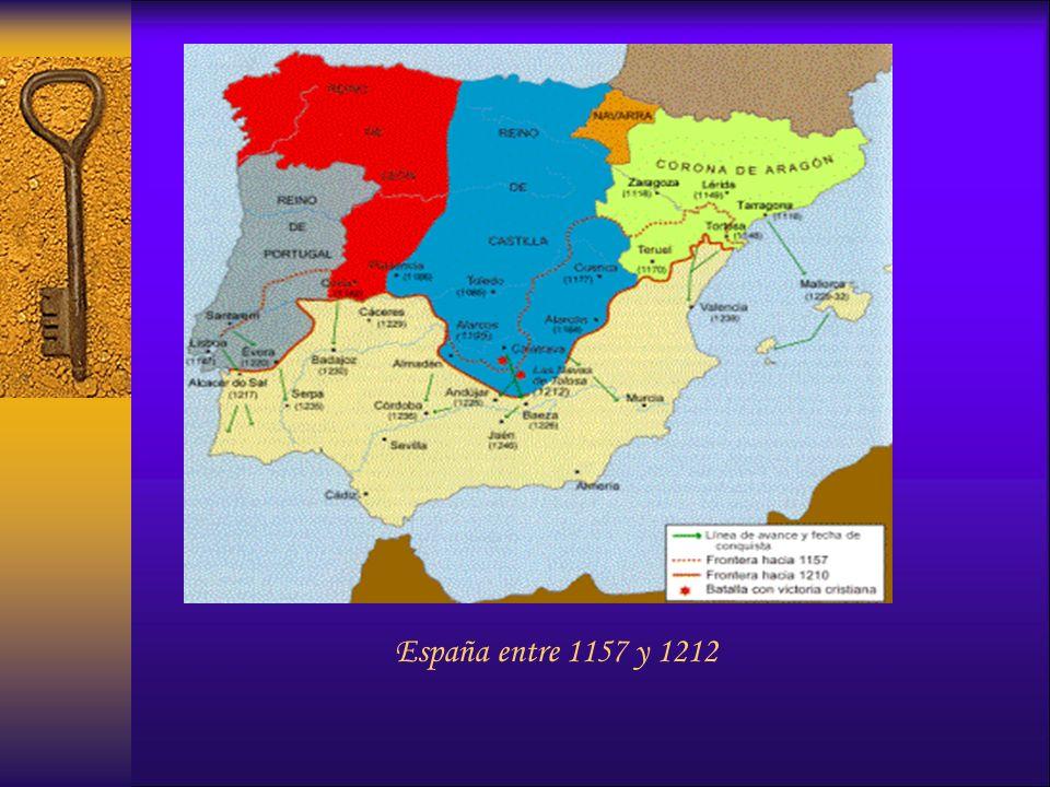 España entre 1157 y 1212