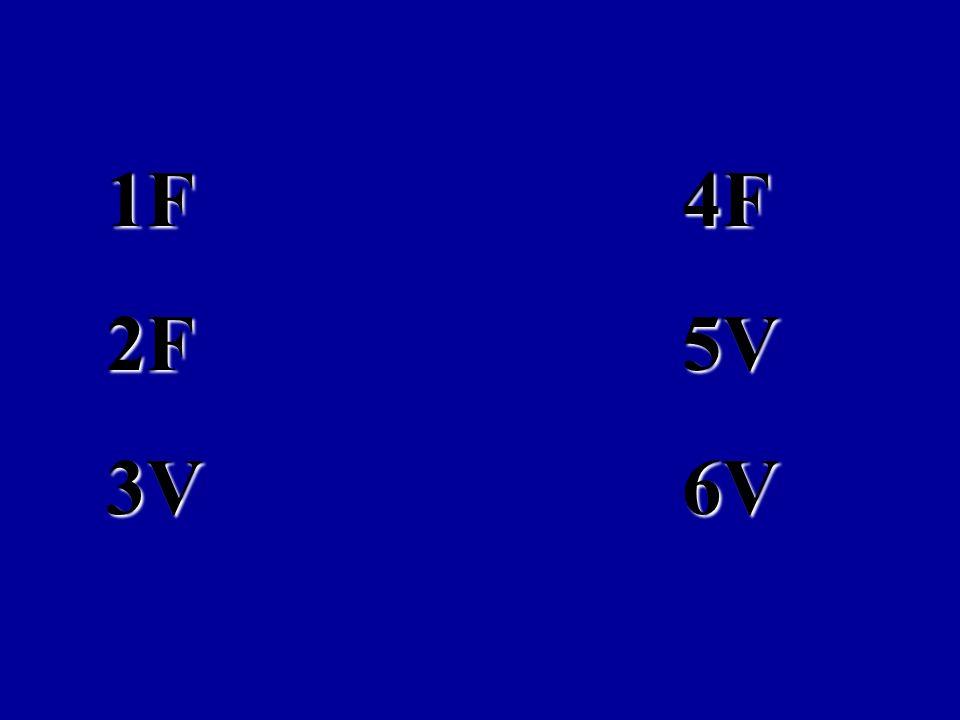 LAS RESPUESTAS CORRECTAS SON: 1F 4F 2F 5V 3V 6V