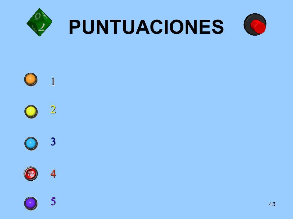 PUNTUACIONES 1 2 3 4 5