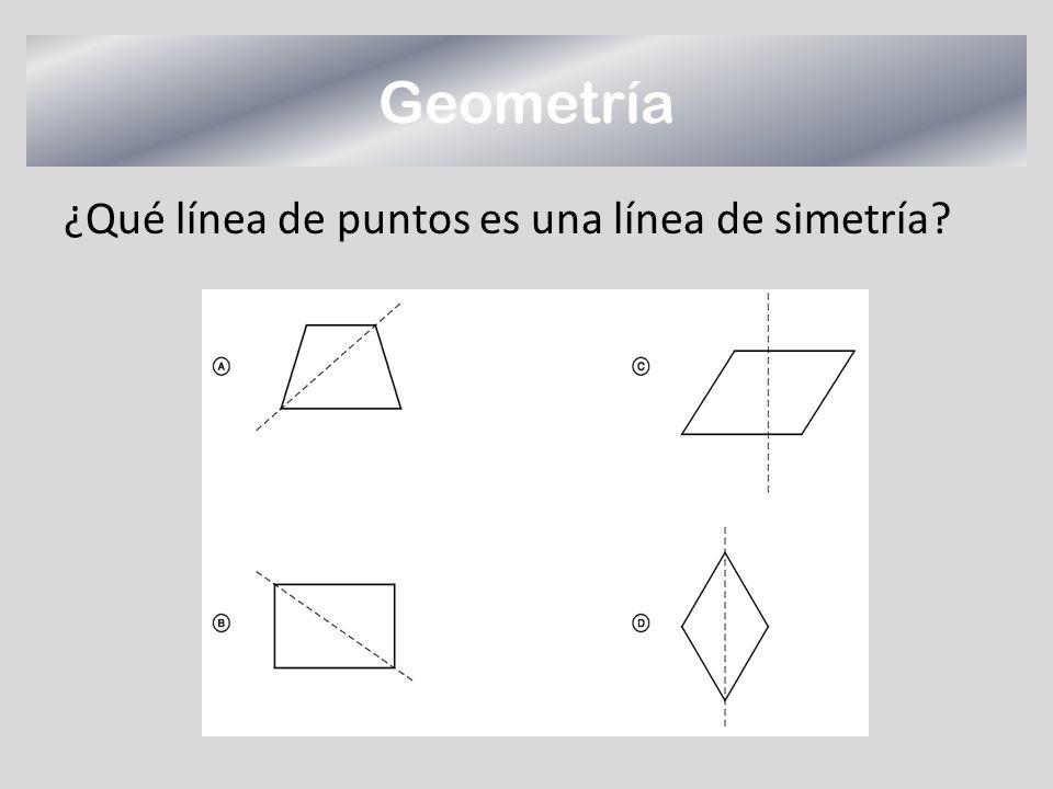 Geometría ¿Qué línea de puntos es una línea de simetría