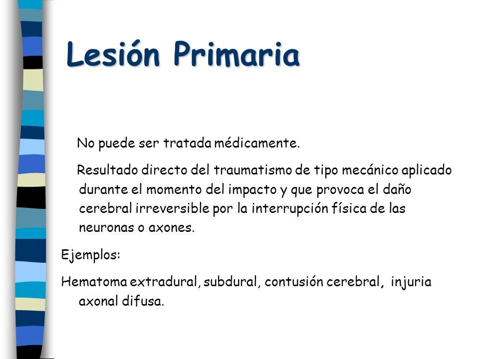 Lesión Primaria No puede ser tratada médicamente.
