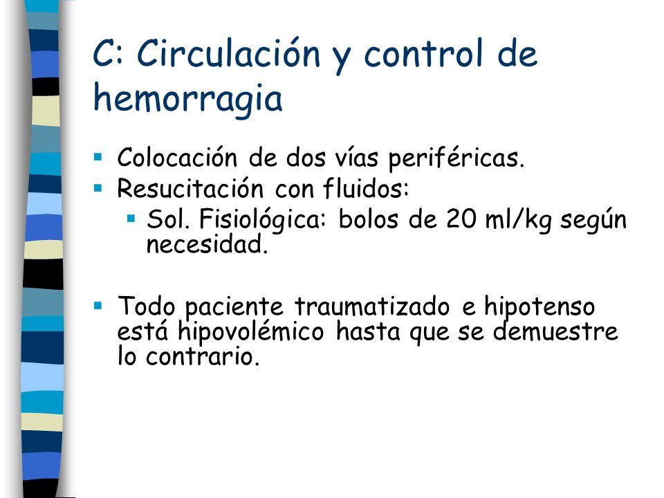 C: Circulación y control de hemorragia