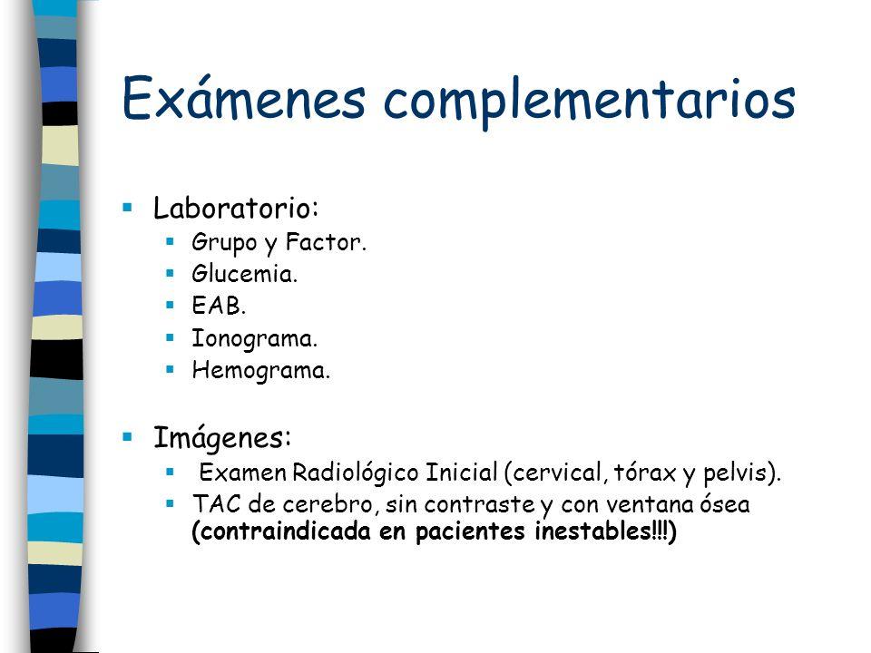 Exámenes complementarios