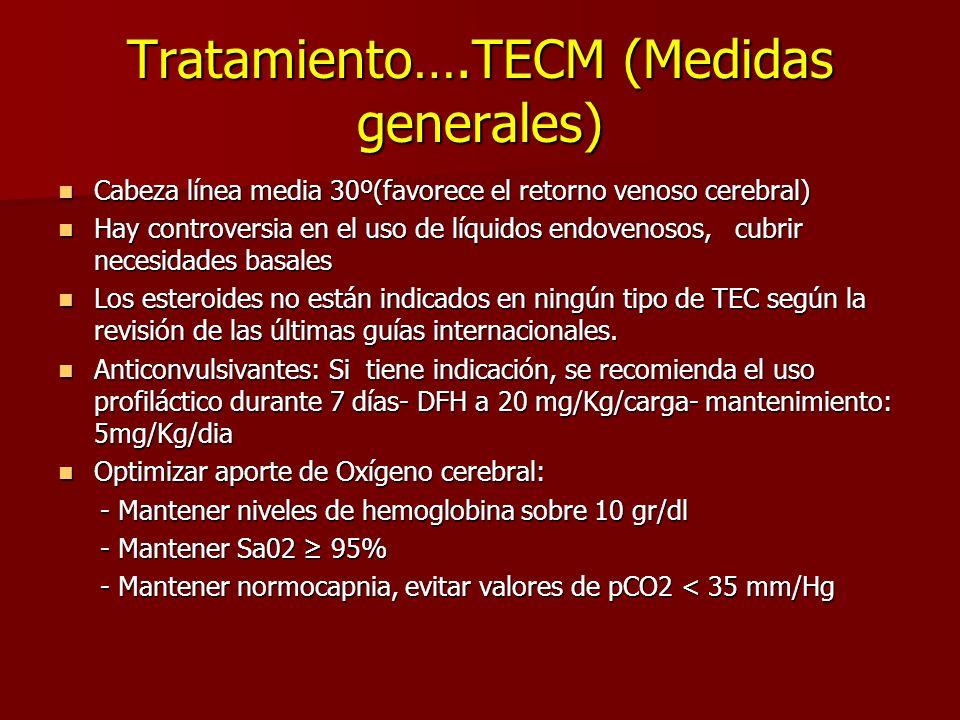 Tratamiento….TECM (Medidas generales)