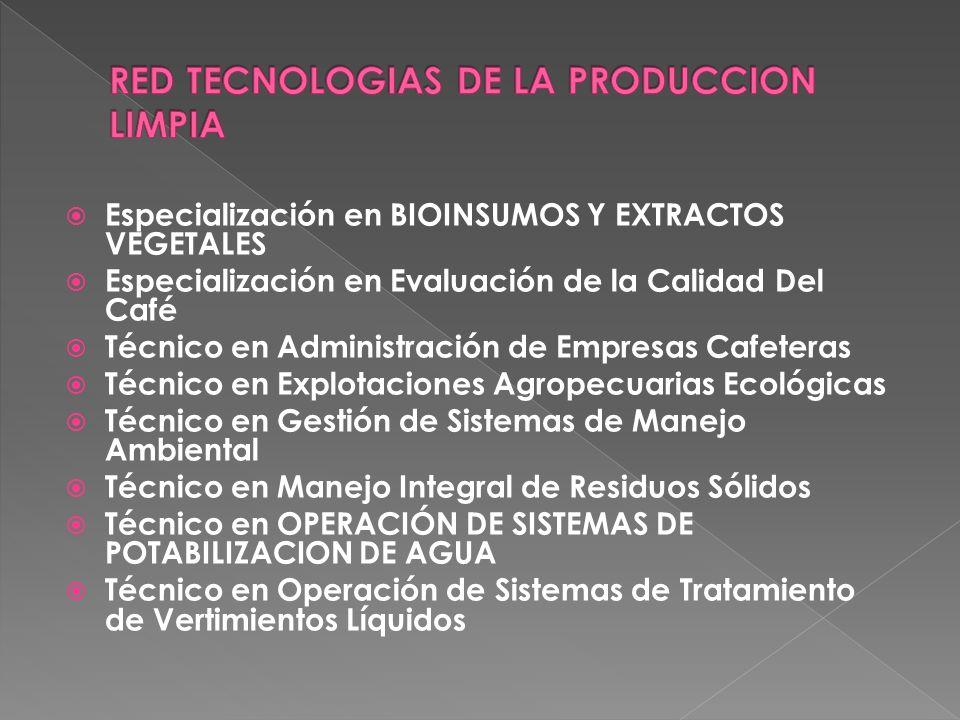 RED TECNOLOGIAS DE LA PRODUCCION LIMPIA