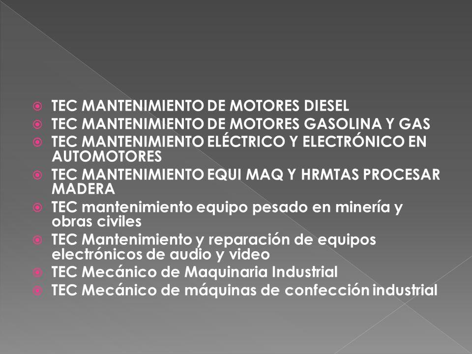 TEC MANTENIMIENTO DE MOTORES DIESEL