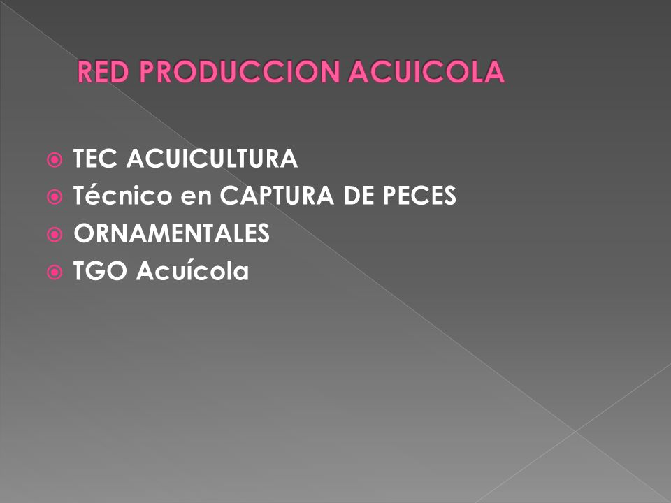RED PRODUCCION ACUICOLA