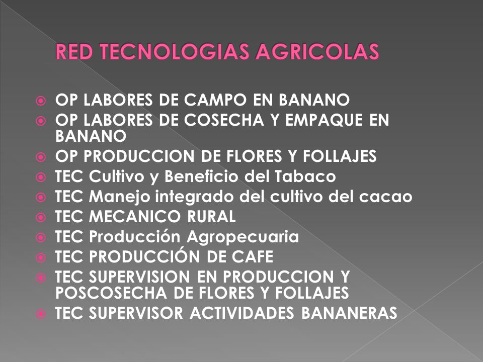 RED TECNOLOGIAS AGRICOLAS