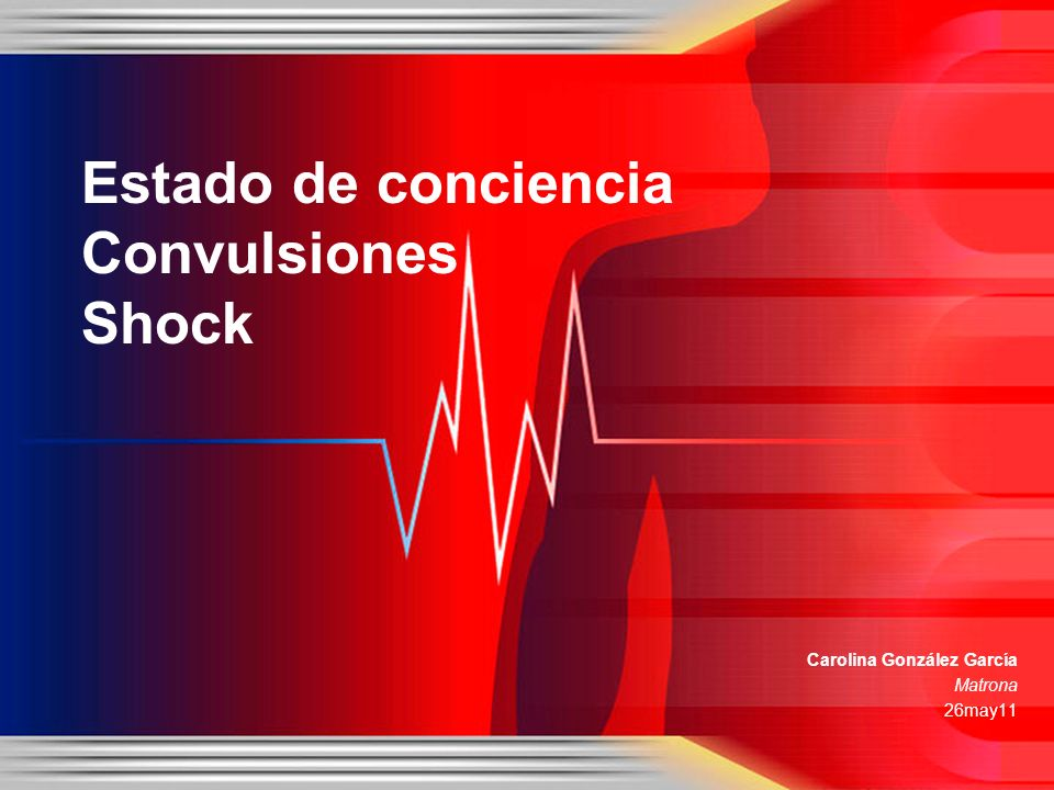 Estado de conciencia Convulsiones Shock