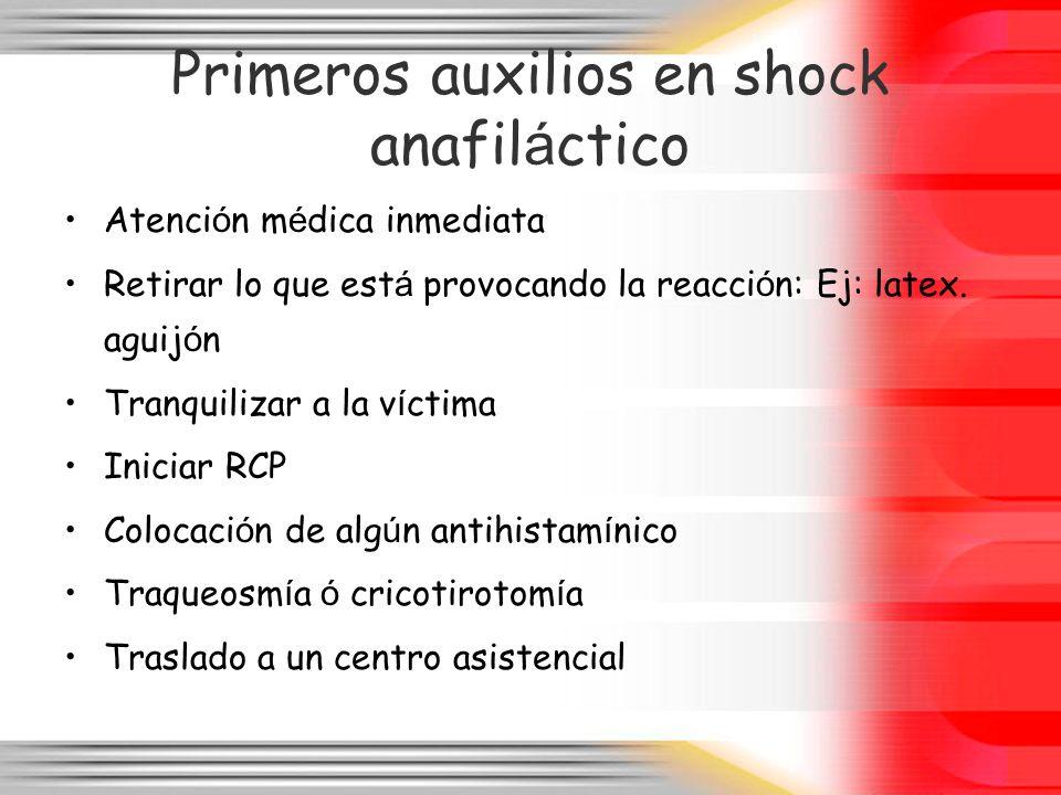 Primeros auxilios en shock anafiláctico