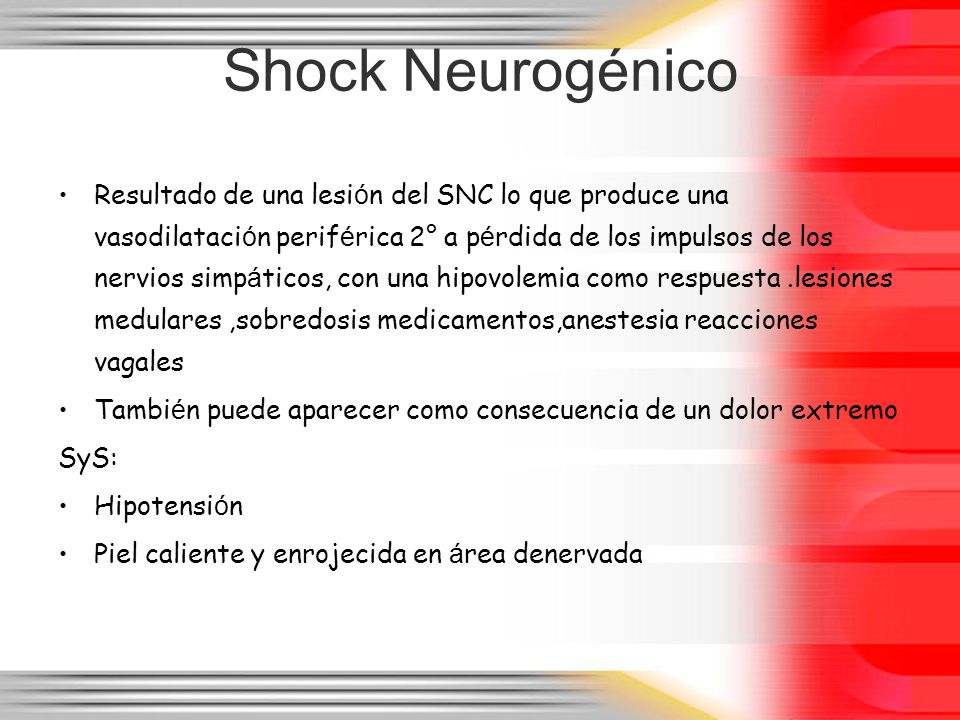Shock Neurogénico