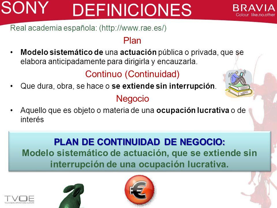 PLAN DE CONTINUIDAD DE NEGOCIO: