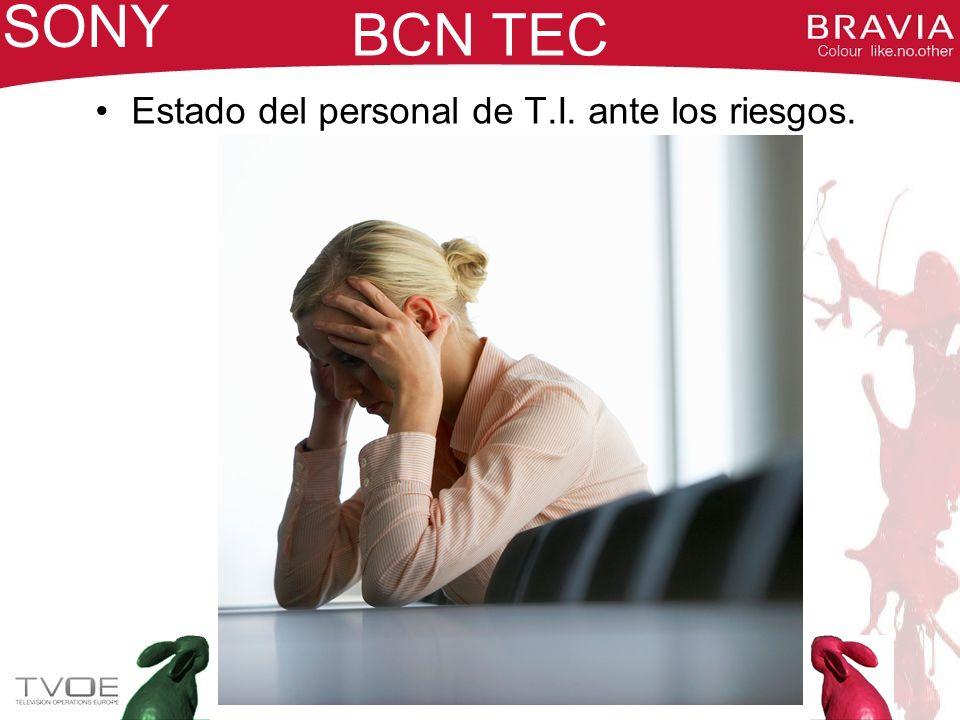 SONY BCN TEC Estado del personal de T.I. ante los riesgos.