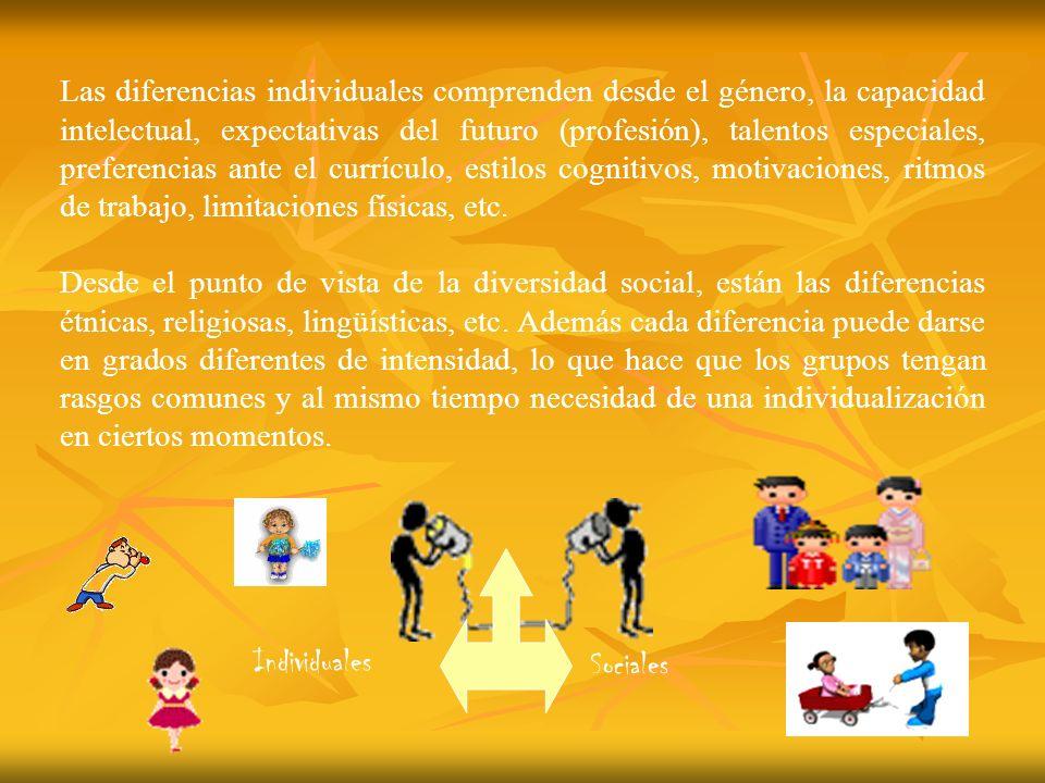 Individuales Sociales