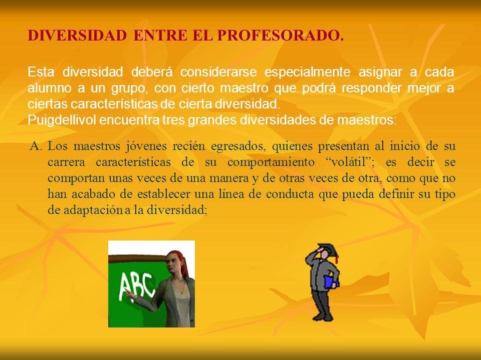 DIVERSIDAD ENTRE EL PROFESORADO.