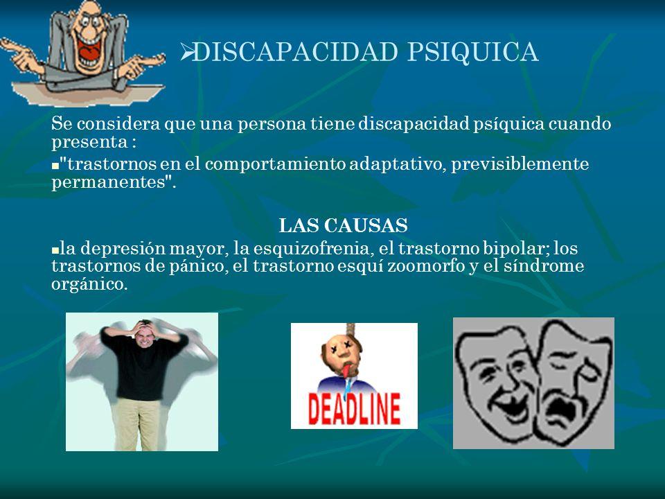 DISCAPACIDAD PSIQUICA