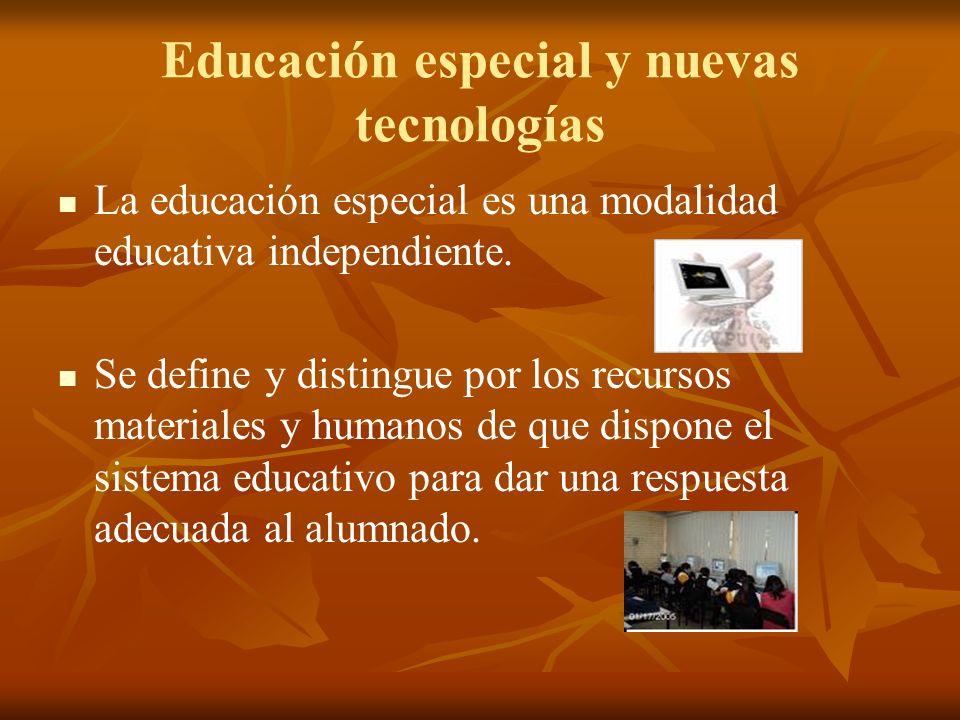 Educación especial y nuevas tecnologías