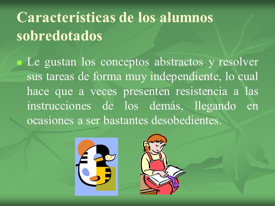 Características de los alumnos sobredotados