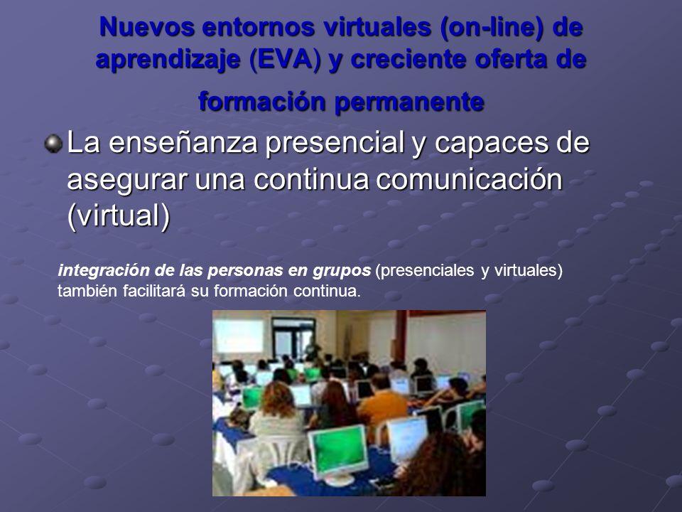 Nuevos entornos virtuales (on-line) de aprendizaje (EVA) y creciente oferta de formación permanente