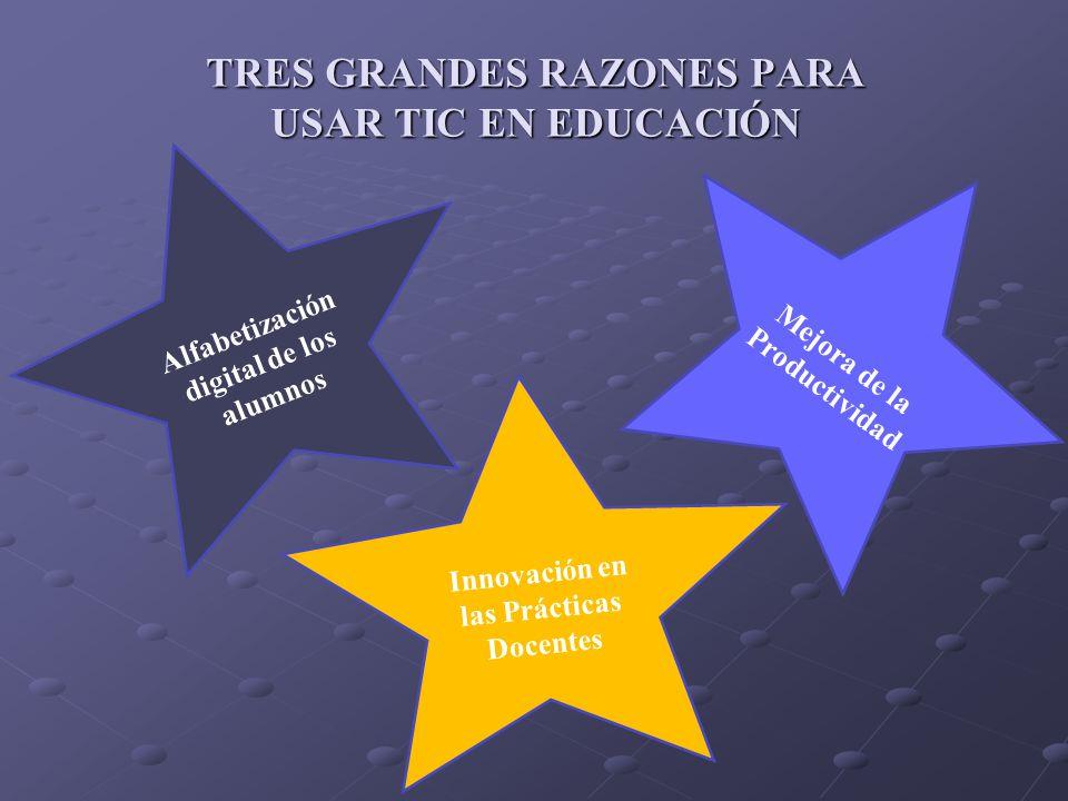 TRES GRANDES RAZONES PARA USAR TIC EN EDUCACIÓN