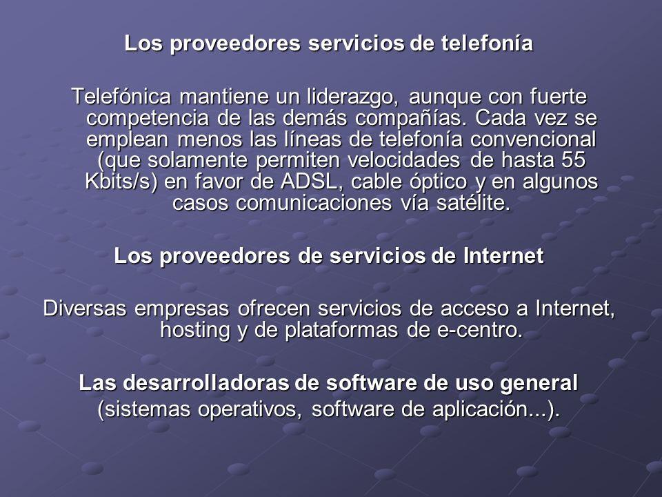 Los proveedores servicios de telefonía Telefónica mantiene un liderazgo, aunque con fuerte competencia de las demás compañías.