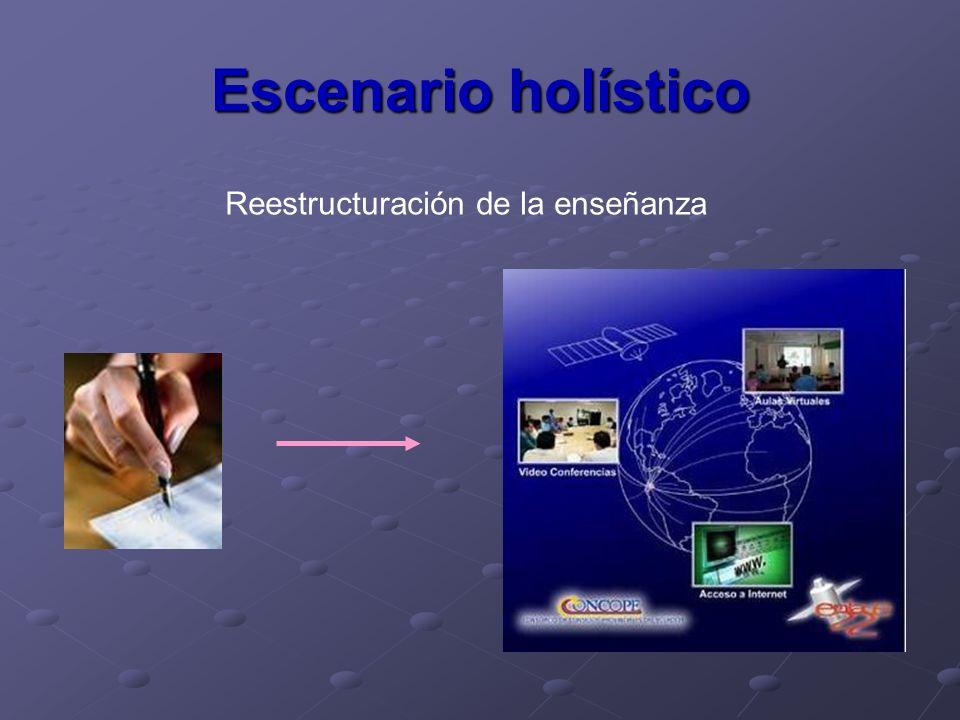 Escenario holístico Reestructuración de la enseñanza