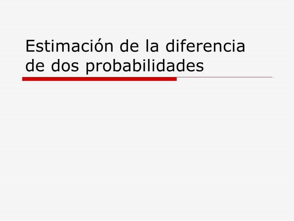 Estimación de la diferencia de dos probabilidades
