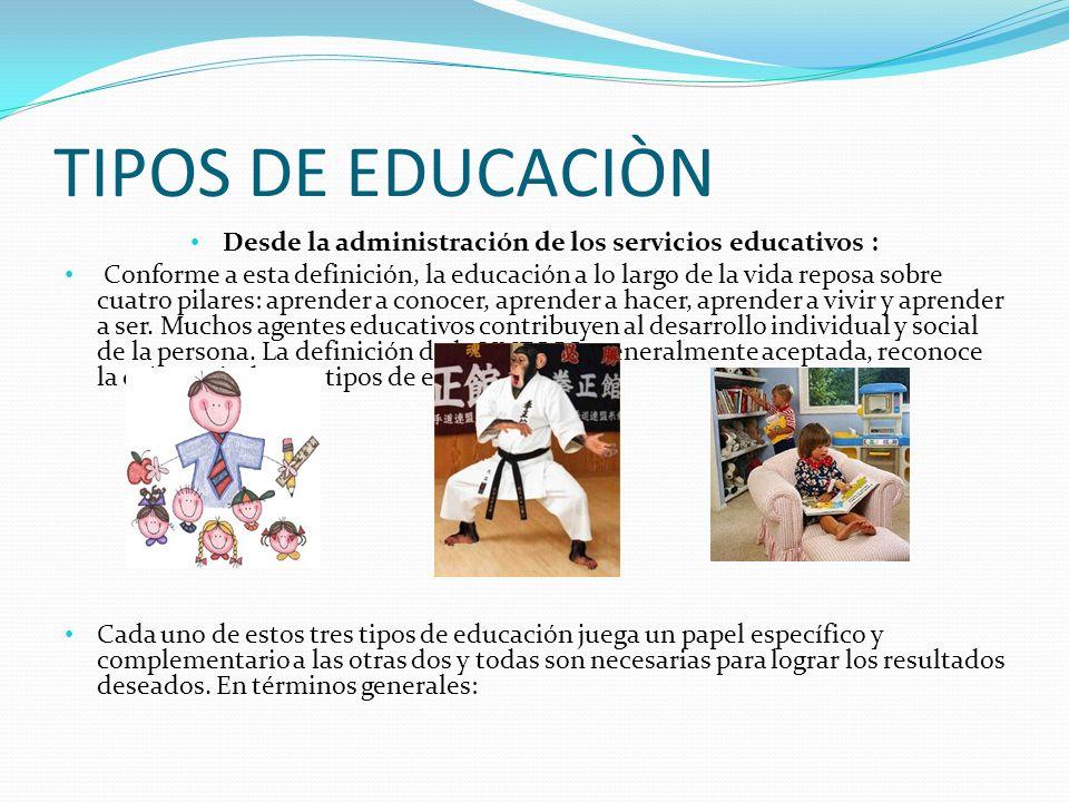 Desde la administración de los servicios educativos :