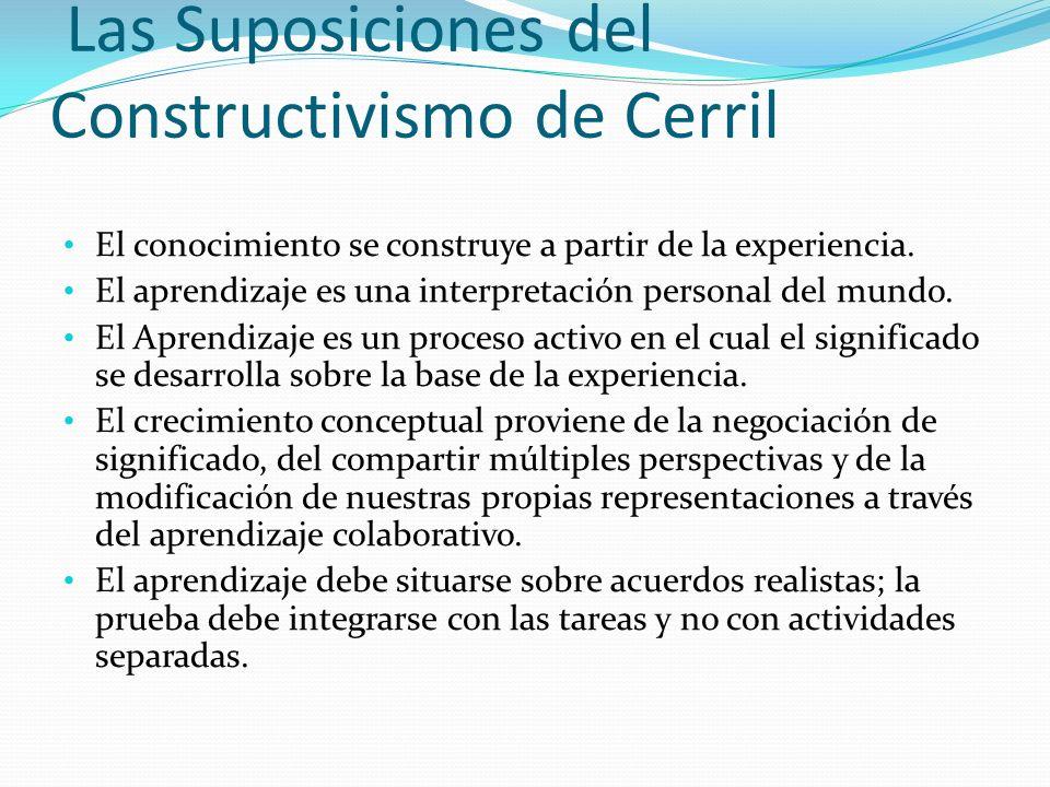Las Suposiciones del Constructivismo de Cerril